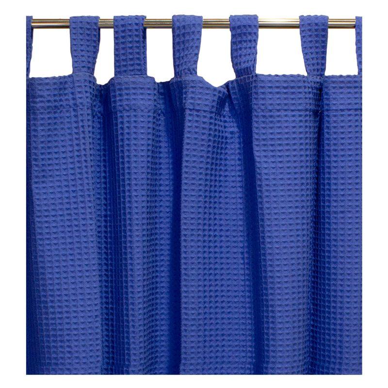 Cortina de pique Azul