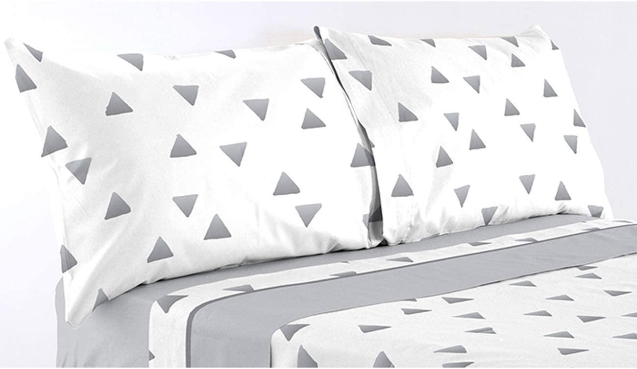 Juago sabanas microcoral trin gris - cama 90 105