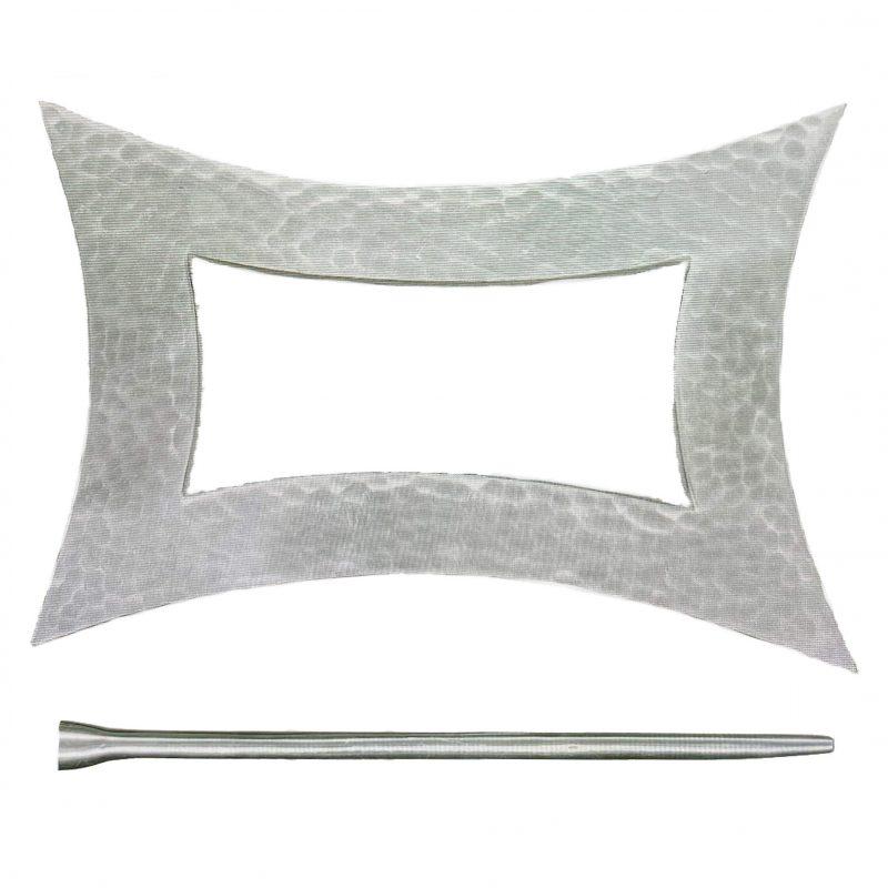abrazadera metal plata