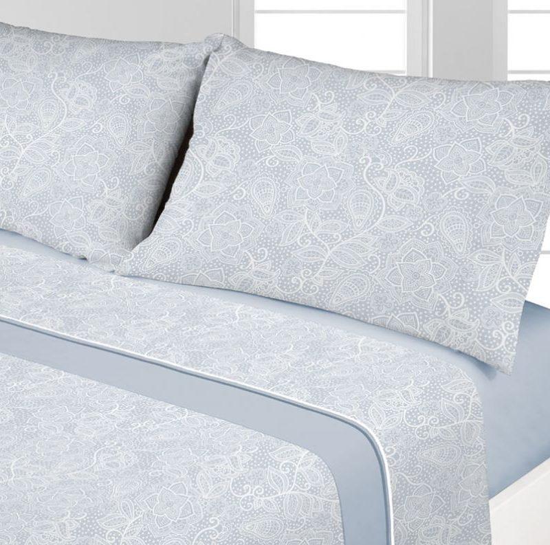 juego sabanas coralina velt azul - cama 135 150 diseño