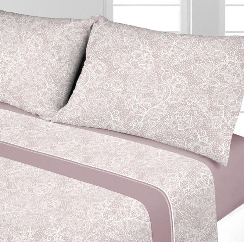 juego sabanas coralina velt rosa - cama 135 150 diseño