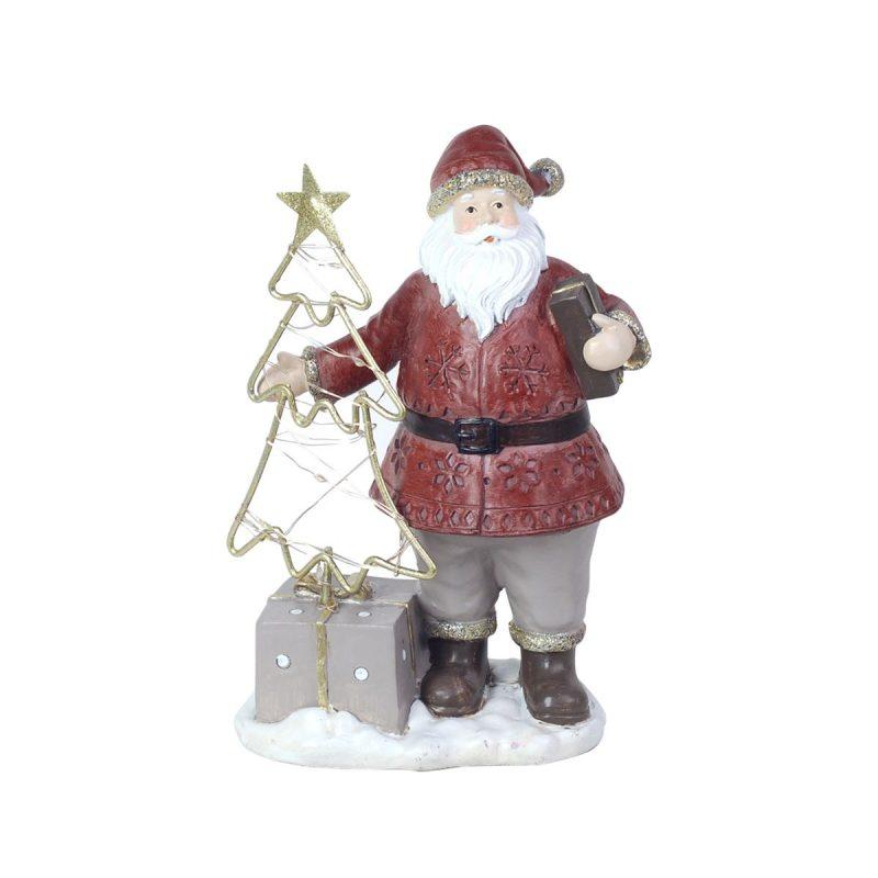 Papa Noel con leds